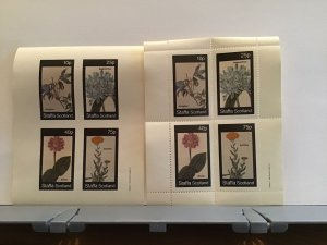 Staffa Scotland plant flowers Achillea  Zinnia MNH stamps  R25310