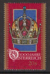 Austria    #B1710i  MNH  1996  Austria millennium  20s  crown