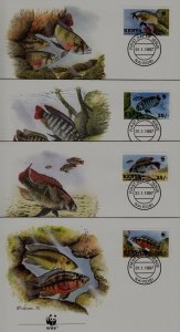 Kenya 703-06 FDC WWF-97/Fishes