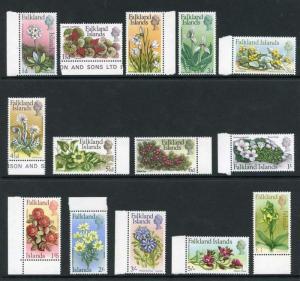 Falkland Islands SG232/45 1968 Flowers Set of 14 U/M