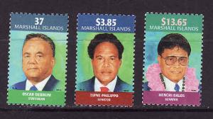 Marshall Is.-Sc#817-19-unused NH set-Famous People-2003-very small gum
