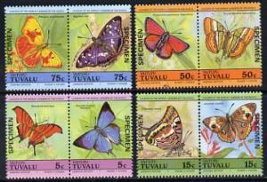Tuvalu - Vaitupu 1985 Butterflies (Leaders of the World) ...