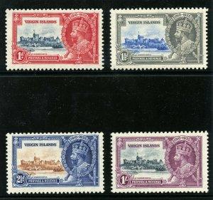 British Virgin Is 1935 KGV Silver Jubilee set complete MLH. SG 103-106. Sc 69-72