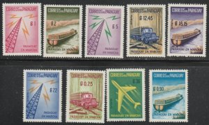 Paraguay #577-581, C278-C281 MNH Full Set of 9 cv $4.05