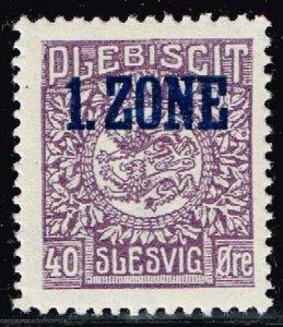 GERMANY STAMP PLEBISCIT 1.ZONE OVERPRINT SLESVIG  40øre MH/OG TYPE 9 V  $139