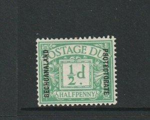 Bechuanaland, postage Due 1926 1/2d MM SG D1