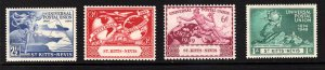 ST. KITTS AND NEVIS  SC# 95-98  FVF/MNH