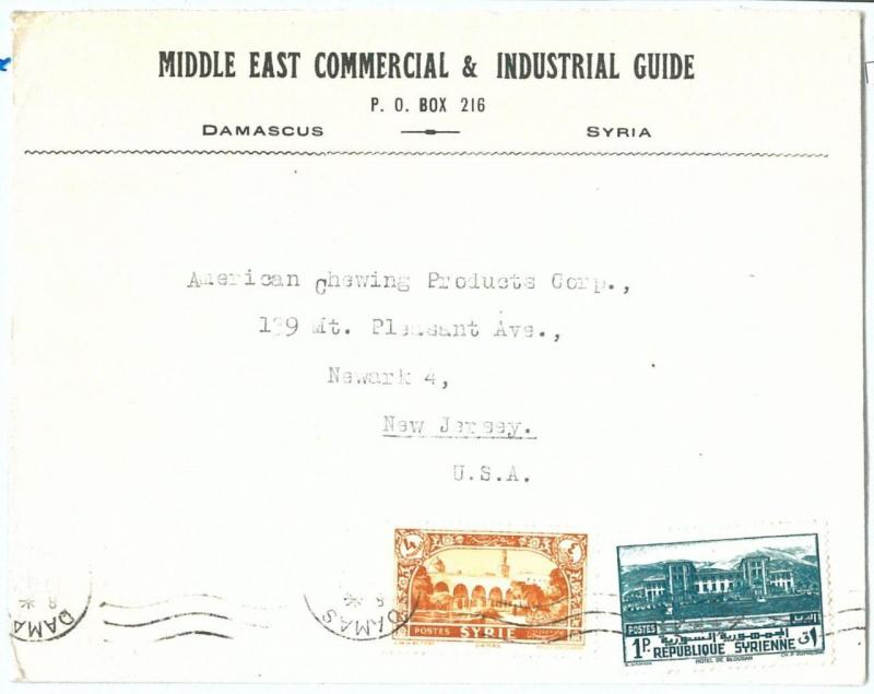 71157 - SYRIA - POSTAL HISTORY - COVER  to United States 1940'S - Printed Matter