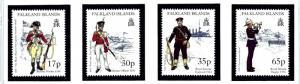 Falkland Is 716-19 MNH 1998 Military Uniforms