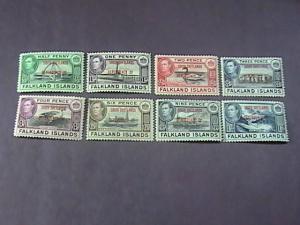 FALKLAND ISLANDS/SOUTH SHETLANDS # 5L1--5L8 -MINT/HINGED-COMPLETE SET-KGVI-1944