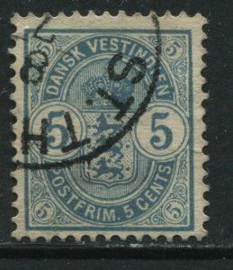 Danish West Indies 1900 5 cents used
