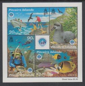 Pitcairn Islands 495a Souvenir Sheet MNH VF