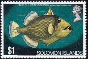 Solomon Islands # 245 mnh ~ $1 Blue Finned Triggerfish