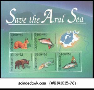 TURKMENISTAN - 1996 SAVE THE ARAL SEA / FISH - MIN. SHEET MINT NH