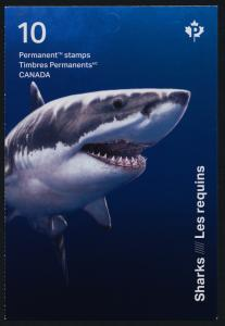 Canada 3110a Booklet MNH Sharks