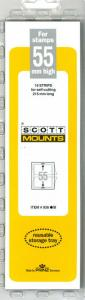 Prinz Scott Stamp Mount 55/215 BLACK Background Pack of 15