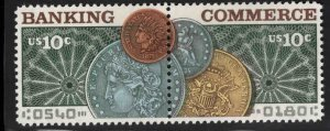 USA Scott 1557-1558 MNH** Banking & Commerce setenant pair of stamps Argha test3
