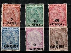Albania Scott 47-52 Mint hinged (Catalog Value $45.00)