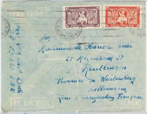 59387 - VIETNAM  Indochine française - POSTAL HISTORY:  COVER to WUTTEMBERG 1948