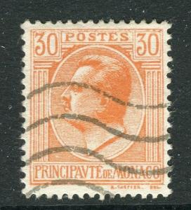 MONACO; 1924 early Portrait issue fine used 30c. value
