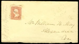 US #65 EARLY CLASSIC COVER, stamp is F/VF with good color, see photo, VERY NI...