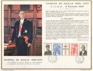 France - Charles de Gaulle deathday 1971 - souvenir