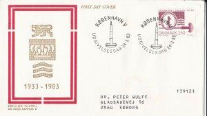 DEFD 328) DENMARK 1983 LION,CROWN FDC