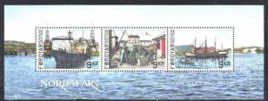 Faroe Islands Sc 609  2013 Nordafar Fishery stamp sheet mint NH