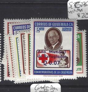 GUATEMALA  (PP0408B)   RED CROSS SURCH  SC 235-242 MNH