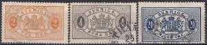 Sweden  #O12, O14, O20  F-VF Used CV $3.30  (Z6249)