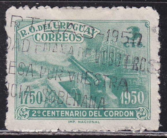 Uruguay 582 Cannon 1950