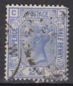 Great Britain #82 Plate 23 F-VF Used CV $30.00 (B9350)