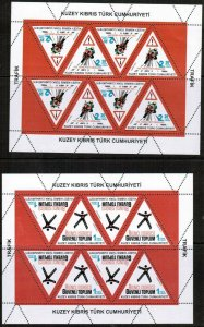 UNMOUNTED MINT 2015 PREVENTION OF TRAFFIC ACCIDENTS SHEETLETS TURKISH CYPRUS