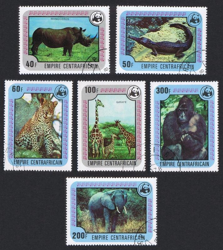 Central African Empire WWF Endangered species 6v CTO SG#550-555 SC#323-328
