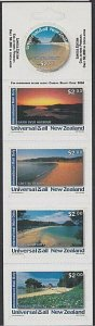 NEW ZEALAND Universal Mail $10 International Mail Booklet - Beaches.........R522