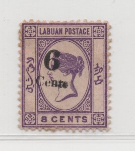 Malaya Labuan - 1891-92 - SG35 - 6c on 8c - MH #688