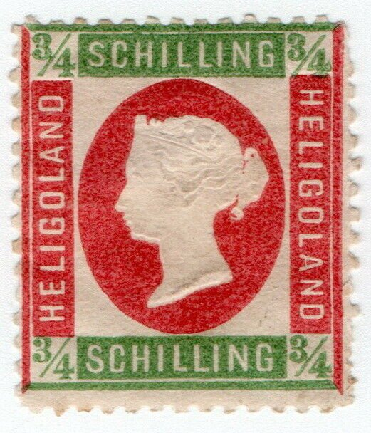 (I.B) Heligoland Postal : Definitive Head ¾sch
