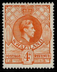 SWAZILAND GVI SG33a, 4d orange, M MINT.