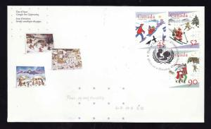 Canada-Sc#1627-9 - stamps on FDC-Christmas-1996-