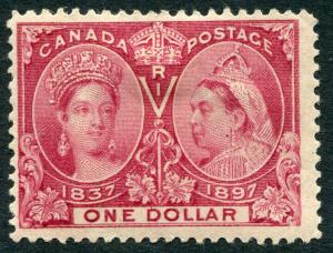 CANADA - # 61 Fine Heavy Hinged Issue - QUEEN VICTORIA 60TH YEAR REIGN - S5575