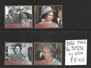 Tokleau MNH 329-32 Queen Elizabeth II 2002 SCV 5.05