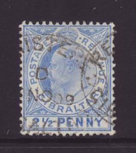 1907 Gibraltar 2½d Fine-Used SG69