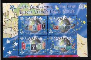 SAMOA, 1078A, MNH, SS OF 4, EUROPA STAMPS