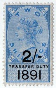 (I.B) QV Revenue : Transfer Duty 2/- (1891)