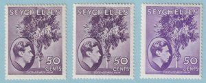 SEYCHELLES SG 144 144a & 144b  MINT HINGED OG * NO FAULTS EXTRA FINE ! - W199