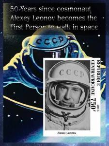 CENTRAFRICAINE SHEET COSMONAUTS LEONOV SPACE