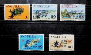 British Colony Anguilla 1969 Christmas MH* Full Set A22P16F8708