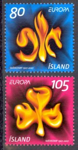 Iceland Sc# 1110-1111 MNH 2007 Europa
