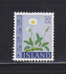 Iceland 363 MNG Flowers, Eight Petal Dryas