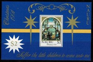 Nauru 1991 Christmas MNH M/s